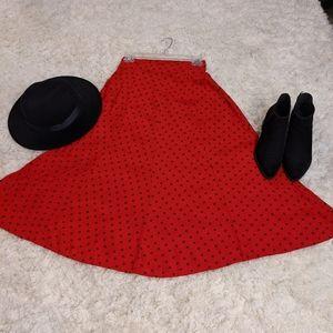 Vintage Red skirt sz. 4